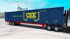 Semi-remorque conteneur CSX Intermodal