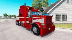 6 peau Métallique pour le camion Peterbilt 389