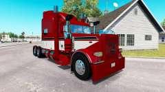 Baron rouge de la peau pour le camion Peterbilt
