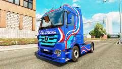 Skin-Blue Edition-Zugmaschine Mercedes-Benz