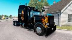 La peau Ghost Rider v2.0 tracteur Peterbilt 389