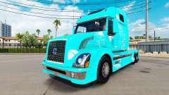 Blue fire skin für Volvo VNL 670 LKW