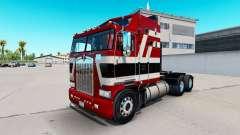 Baron rouge de la peau pour Kenworth K100 camion