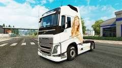 Jennifer Lawrence skin für Volvo-LKW