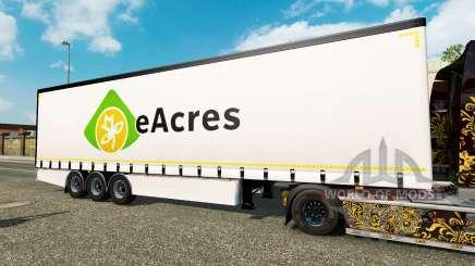 Vorhang Auflieger Krone EuroAcres für Euro Truck Simulator 2