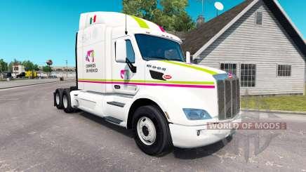 La peau Correos de Mexico pour le camion Peterbilt pour American Truck Simulator