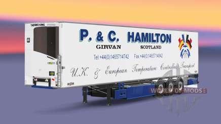 Semi-trailer-Kühlschrank Chereau P. & C. Hamilton für Euro Truck Simulator 2