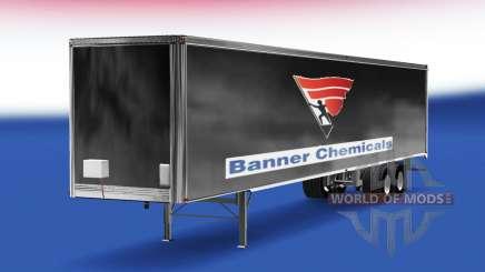 Haut-Banner Chemikalien v2.0 auf dem semi-trailer für American Truck Simulator
