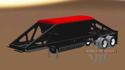 Semi-trailer-Kipper mit Bodenentleerung für American Truck Simulator