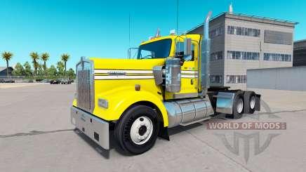 Peau Lisse, Jaune sur le camion Kenworth W900 pour American Truck Simulator
