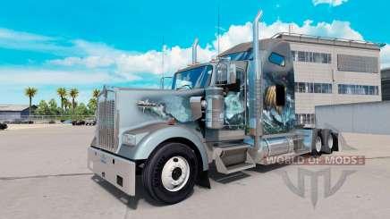 La peau Viking pour camion Kenworth W900 pour American Truck Simulator