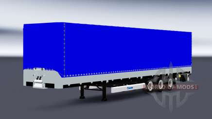Flachbett-Sattelauflieger Krone SDP27 für Euro Truck Simulator 2