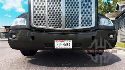 Une collection de plaques d'immatriculation pour American Truck Simulator