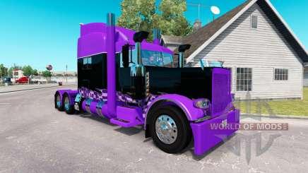 Inspirés par la course de la peau pour le camion Peterbilt 389 pour American Truck Simulator