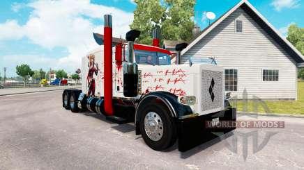 Harley Quin peau pour le camion Peterbilt 389 pour American Truck Simulator