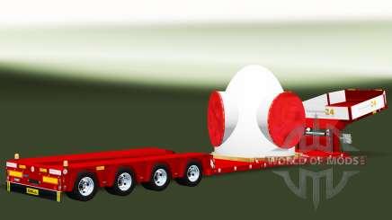 Bas de balayage à la charge du rotor de l'éolienne pour Euro Truck Simulator 2