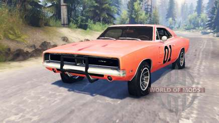 Dodge Charger 1969 General Lee pour Spin Tires