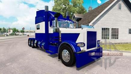 Le Bleu de la peau et le Blanc pour le camion Peterbilt 389 pour American Truck Simulator