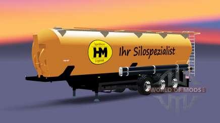 Die Auflieger-tank HM Spedition & Logistik für Euro Truck Simulator 2