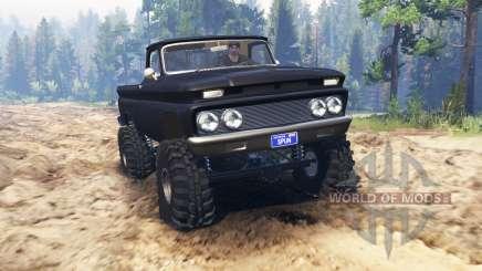Chevrolet С-10 1966 Personnalisé pour Spin Tires