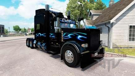 Bluesway de la peau pour le camion Peterbilt 389 pour American Truck Simulator