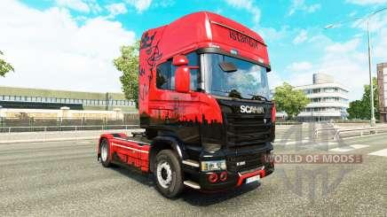 La peau d'Istanbul pour tracteur Scania pour Euro Truck Simulator 2