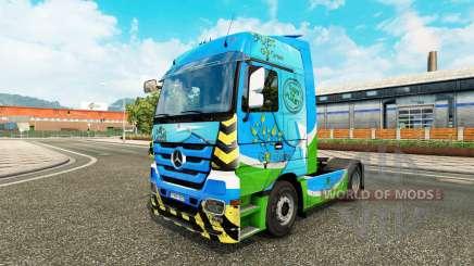 Peau Vert pour tracteur Mercedes-Benz pour Euro Truck Simulator 2