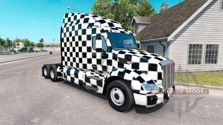 Le Damier de la peau pour le camion Peterbilt pour American Truck Simulator
