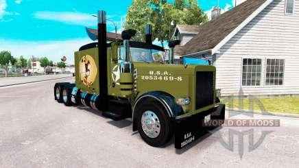 WW2 Style de la peau pour le camion Peterbilt 389 pour American Truck Simulator