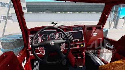L'intérieur de la v1.1 pour Kenworth W900 pour American Truck Simulator