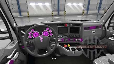 Intérieur Cadran Rose pour Kenworth T680 pour American Truck Simulator