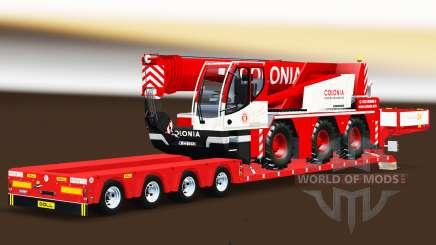 Faible balayage avec un camion grue Liebherr pour Euro Truck Simulator 2