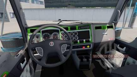 Intérieur Vert-de-gris pour Kenworth W900 pour American Truck Simulator