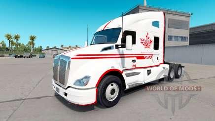 Haut-Canadian-Express-Weißen Kenworth Zugmaschine für American Truck Simulator