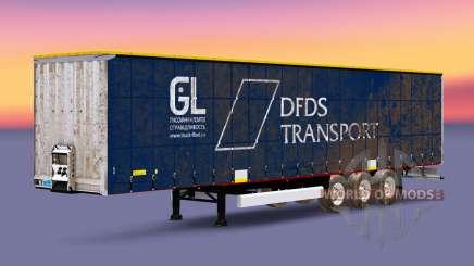 Vorhang Auflieger Krone DFDS Transport v2.0 für Euro Truck Simulator 2
