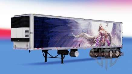 La peau LeL sur frigorifique semi-remorque pour American Truck Simulator