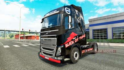 La peau de Chat Noir Trans pour Volvo camion pour Euro Truck Simulator 2