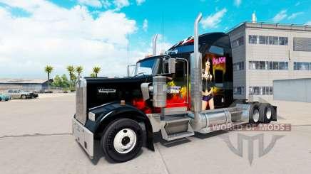 La peau de la WWE sur le camion Kenworth W900 pour American Truck Simulator