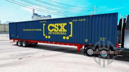Auflieger container-CSX Intermodal für American Truck Simulator