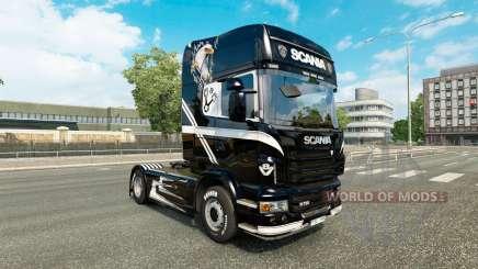 V8 de la peau pour Scania camion pour Euro Truck Simulator 2