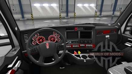Intérieur Cadran Rouge pour Kenworth T680 pour American Truck Simulator