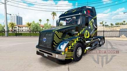 La peau Monster Energy pour les camions Volvo VNL 670 pour American Truck Simulator