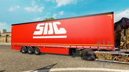 Vorhang Auflieger Krone SDC für Euro Truck Simulator 2