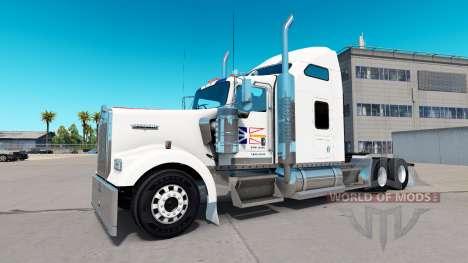 La peau de terre-Neuve-Drapeau sur le camion Ken pour American Truck Simulator