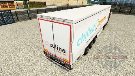 La peau Glacée Ambiante sur un rideau semi-remor pour Euro Truck Simulator 2