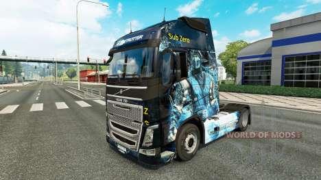 La peau est Sous Zéro sur la Volvo trucks pour Euro Truck Simulator 2