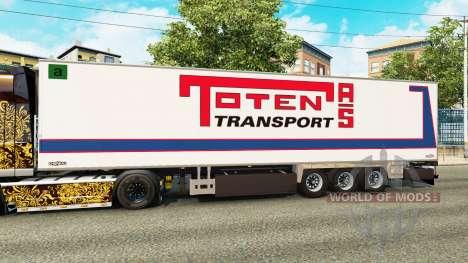 Semi-trailer-Kühlschrank Chereau Toten Transport für Euro Truck Simulator 2