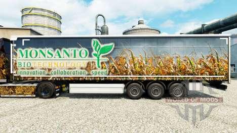 Monsanto Bio de la peau pour les remorques pour Euro Truck Simulator 2