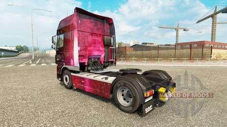 La peau Weltall sur tracteur DAF pour Euro Truck Simulator 2
