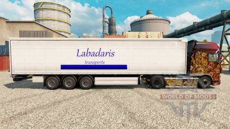 La peau Labadaris Transports sur remorque pour Euro Truck Simulator 2